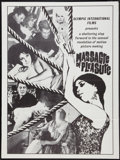 "Movie Posters:Sexploitation, Massacre of Pleasure (Olympic International, 1965). One Sheet (30""X 40""). Sexploitation.. ..."