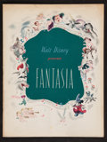 "Movie Posters:Animation, Fantasia (RKO, 1940). Program (Multiple Pages, 9.75"" X 12.75"").Animation.. ..."