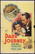 "Movie Posters:Adventure, Dark Journey (United Artists, 1937). One Sheet (27"" X 41"").Adventure.. ..."