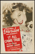 """Movie Posters:Crime, It All Came True (Warner Brothers, 1940). One Sheet (27"""" X 41"""").Crime.. ..."""