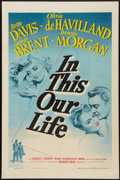 """Movie Posters:Drama, In This Our Life (Warner Brothers, 1942). One Sheet (27"""" X 41"""").Drama.. ..."""