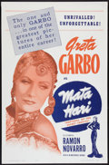 "Movie Posters:Romance, Mata Hari (MGM, R-1963). One Sheet (27"" X 41""). Romance.. ..."