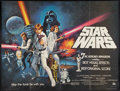 "Movie Posters:Science Fiction, Star Wars (20th Century Fox, 1977). British Quad (30"" X 40"") StyleC. Science Fiction.. ..."