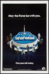 "Star Wars (20th Century Fox, R-1978). One Sheet (27"" X 41"") Birthday Cake Style. Science Fiction"