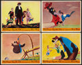 "Movie Posters:Animated, Song of the South (RKO, 1946). British Front of House Color Lobby Cards (4) (8"" X 10""). Animated.. ... (Total: 4 Items)"