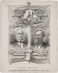 Political:Small Paper (pre-1896), Horace Greeley: Graphic and Rare Jugate Print....