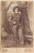 "Photography:Cabinet Photos, Martha ""Calamity Jane"" Canary: A Very Rare Cabinet Photo with Letter of Transmittal from the Wyoming Photographer...."