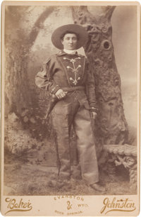 "Martha ""Calamity Jane"" Canary: A Very Rare Cabinet Photo with Letter of Transmittal from the Wyoming Photograp..."