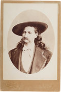 "Photography:Cabinet Photos, James B. ""Wild Bill"" Hickok: A Very Rare Cabinet Photo in Superb Condition...."