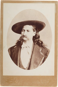 "James B. ""Wild Bill"" Hickok: A Very Rare Cabinet Photo in Superb Condition"