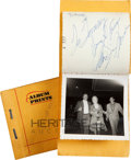 Entertainment Collectibles:Movie, Marilyn Monroe Unpublished Photos, One Signed by Her (1956).... (Total: 2 Items)