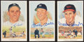 Baseball Collectibles:Others, Mickey Mantle, Yogi Berra and Brooks Robinson Signed Perez SteelePostcards Lot of 3....