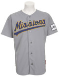 Baseball Collectibles:Uniforms, 1991-92 Mike Piazza Game Worn Minor League Jersey....