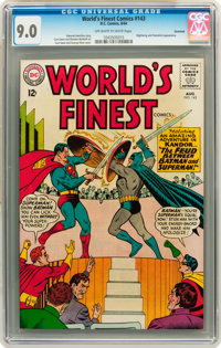 World's Finest Comics #143 Savannah pedigree (DC, 1964) CGC VF/NM 9.0 Off-white to white pages