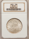 Bust Half Dollars, 1825 50C MS62 NGC. O-103, Low R.4....