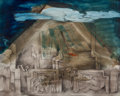 , VERONICA HELFENSTELLER (American, 1910-1964). Guatemala,circa 1948. Mixed media on paper. 8-1/2 x 11-1/2 inches (21.6 x...