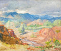 Paintings, JOHN WILLIAM ORTH (American, 1889-1976). Southwest Landscape. Oil on board. 19 x 23 inches (48.3 x 58.4 cm). Signed lowe...