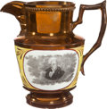 Political:3D & Other Display (pre-1896), Andrew Jackson: Fine Copper Luster Pitcher. ...