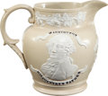 Political:3D & Other Display (pre-1896), George Washington: Lafayette-Washington Commemorative Jug....