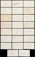 Baseball Cards:Other, Baseball Stars Signed Index Cards Lot of 23....