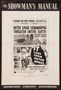 "Movie Posters:Science Fiction, It Came from Outer Space (Universal International, 1953). UncutPressbook (12 Pages, 12"" X 18"") 2-D Version. Science Fiction..."