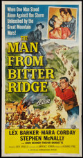 """Movie Posters:Western, The Man from Bitter Ridge Lot (Universal International, 1955).Three Sheets (2) (41"""" X 81""""). Western.. ... (Total: 2 Items)"""
