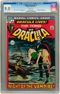 Bronze Age (1970-1979):Horror, Tomb of Dracula #1 (Marvel, 1972) CGC VF/NM 9.0 White pages....