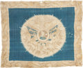 Political:Textile Display (pre-1896), William Henry Harrison: Beautiful Silk Portrait Bandanna. ...