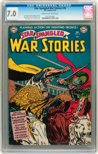 Star Spangled War Stories #18 (DC, 1954) CGC FN/VF 7.0 Cream to off-white pages
