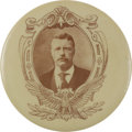 Political:Pinback Buttons (1896-present), Theodore Roosevelt: Highly Unusual Picture Pin....