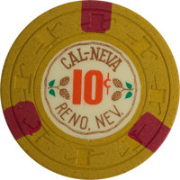 Cal-Neva 6th Series 10 Cent Chip From Reno, Rated R-10