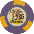 Miscellaneous:Gaming Chips, Harvey's Wagon Wheel, Lake Tahoe, 9th Series $25 Chip, Rated R-9....