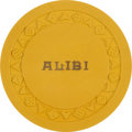 Miscellaneous:Gaming Chips, Alibi Club, Reno, Exceedingly Rare 1st-And-Only-Issue $5 Chip. ...