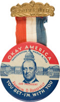 Political:Inaugural (1789-present), Franklin D. Roosevelt: Classic Inauguration Button....