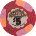 "Miscellaneous:Gaming Chips, Dunes 14th Series $5 Chip, the Popular ""Marquee Issue."" ..."