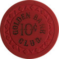 Miscellaneous:Gaming Chips, Golden Bank, Reno 6th Series 10-Cent Chip, Rated R-10. ...