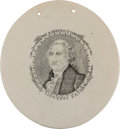 Political:3D & Other Display (pre-1896), George Washington: Herculaneum-Style Plaque. ...
