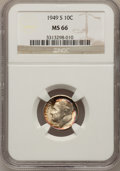 Roosevelt Dimes: , 1949-S 10C MS66 NGC. NGC Census: (754/984). PCGS Population (1050/169). Mintage: 13,510,000. Numismedia Wsl. Price for prob...