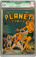 Golden Age (1938-1955):Science Fiction, Planet Comics #12 (Fiction House, 1941) CGC Qualified GD/VG 3.0Off-white pages....