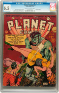 Golden Age (1938-1955):Science Fiction, Planet Comics #13 (Fiction House, 1941) CGC FN+ 6.5 Cream tooff-white pages....