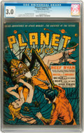 Golden Age (1938-1955):Science Fiction, Planet Comics #19 (Fiction House, 1942) CGC GD/VG 3.0 Cream tooff-white pages....