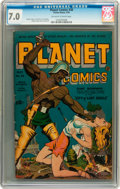 Golden Age (1938-1955):Science Fiction, Planet Comics #30 (Fiction House, 1944) CGC FN/VF 7.0 Off-white towhite pages....
