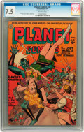 Golden Age (1938-1955):Science Fiction, Planet Comics #32 (Fiction House, 1944) CGC VF- 7.5 Off-whitepages....