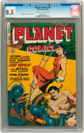 Golden Age (1938-1955):Science Fiction, Planet Comics #62 (Fiction House, 1949) CGC VF+ 8.5 Off-white towhite pages....