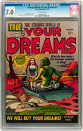 Golden Age (1938-1955):Science Fiction, Strange World of Your Dreams #1 (Prize, 1952) CGC FN/VF 7.0Off-white pages....