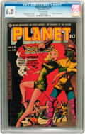 Golden Age (1938-1955):Science Fiction, Planet Comics #35 (Fiction House, 1945) CGC FN 6.0 Off-whitepages....