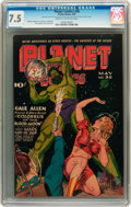 Golden Age (1938-1955):Science Fiction, Planet Comics #36 (Fiction House, 1945) CGC VF- 7.5 Cream tooff-white pages....