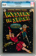Golden Age (1938-1955):Science Fiction, Mystery in Space #1 (DC, 1951) CGC VG 4.0 Off-white to whitepages....