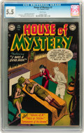 Golden Age (1938-1955):Horror, House of Mystery #2 (DC, 1952) CGC FN- 5.5 White pages....
