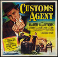 "Movie Posters:Crime, Customs Agent (Columbia, 1950). Six Sheet (81"" X 81""). Crime.. ..."